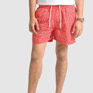 OLGYN Men's Patterned Red Swim Shorts